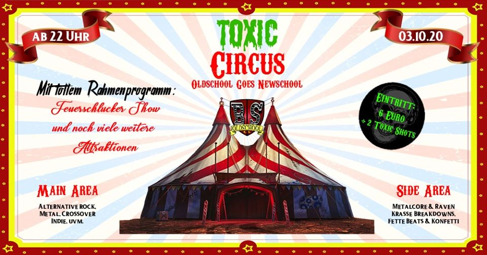 Toxic Circus Banner